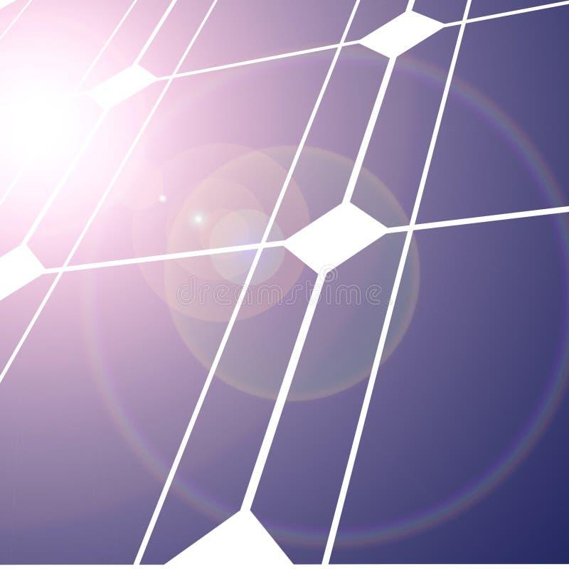 Sol- panel stock illustrationer