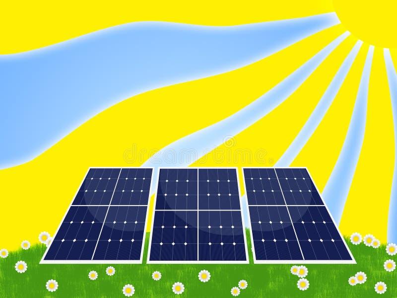 sol- panel vektor illustrationer