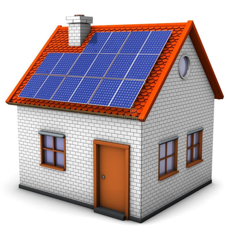 Download Sol- paneler för hus stock illustrationer. Illustration av passerande - 27287125