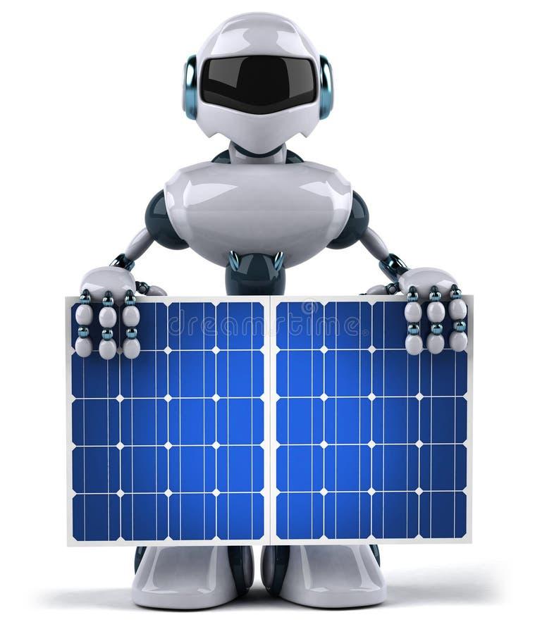 sol- panelrobot royaltyfri illustrationer
