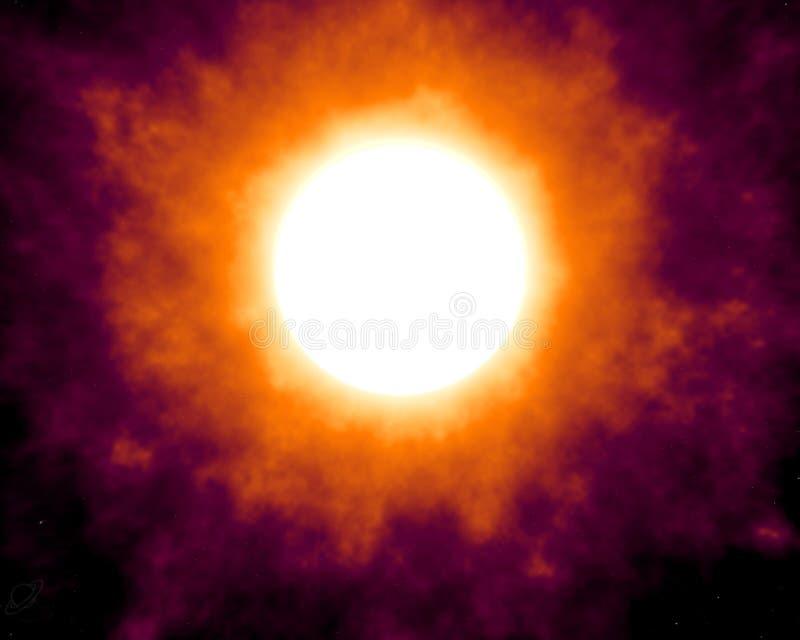 Sol perturbado ilustração do vetor