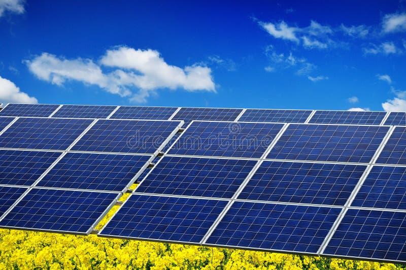 sol- photovoltaic ström royaltyfria bilder