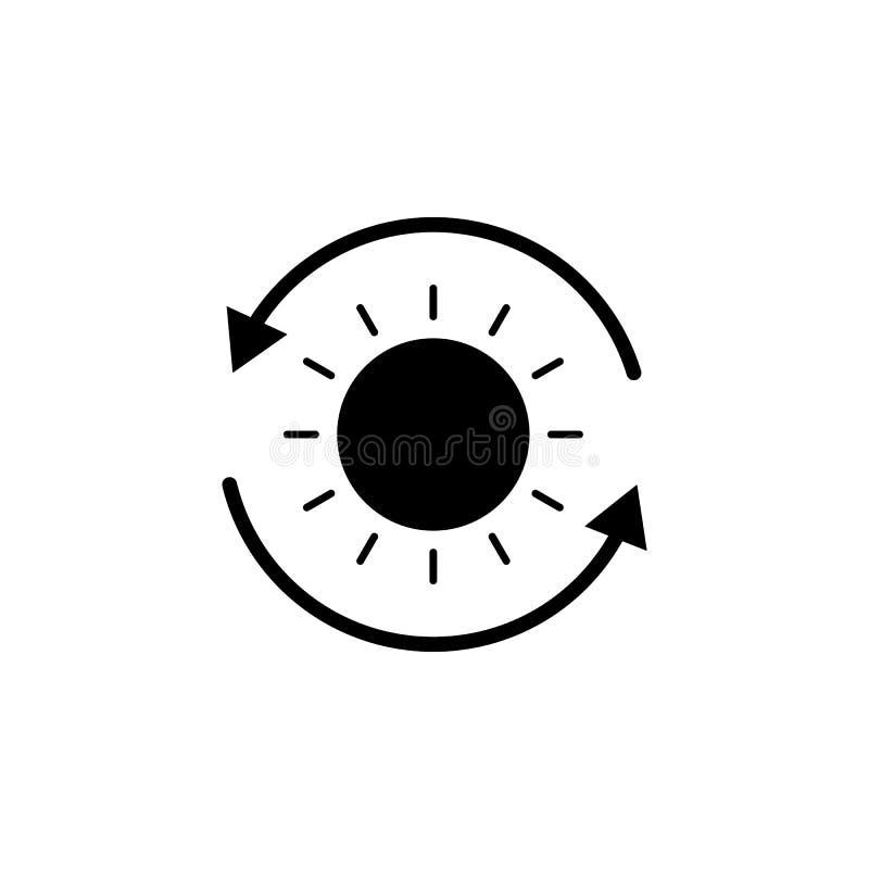 Sol pilsymbol på vit bakgrund Kan användas för rengöringsduken, logoen, den mobila appen, UI UX royaltyfri illustrationer