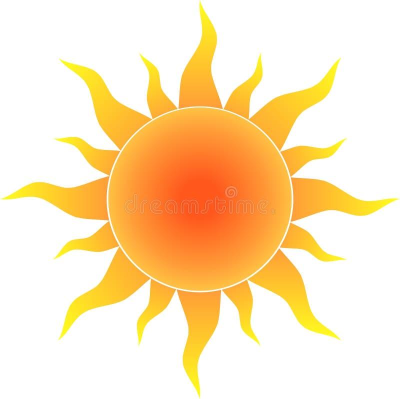 Sol quente ilustração royalty free