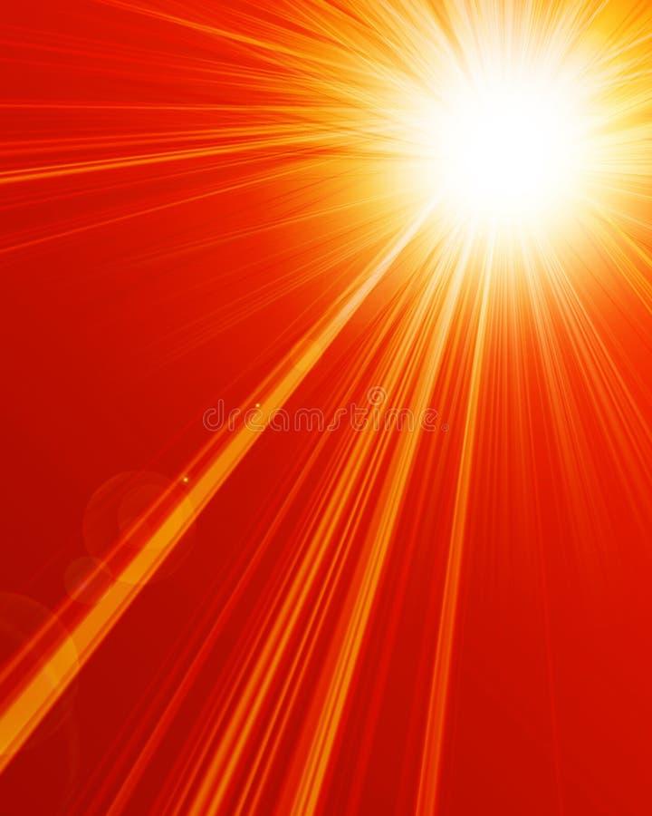 Sol quente do verão ilustração do vetor