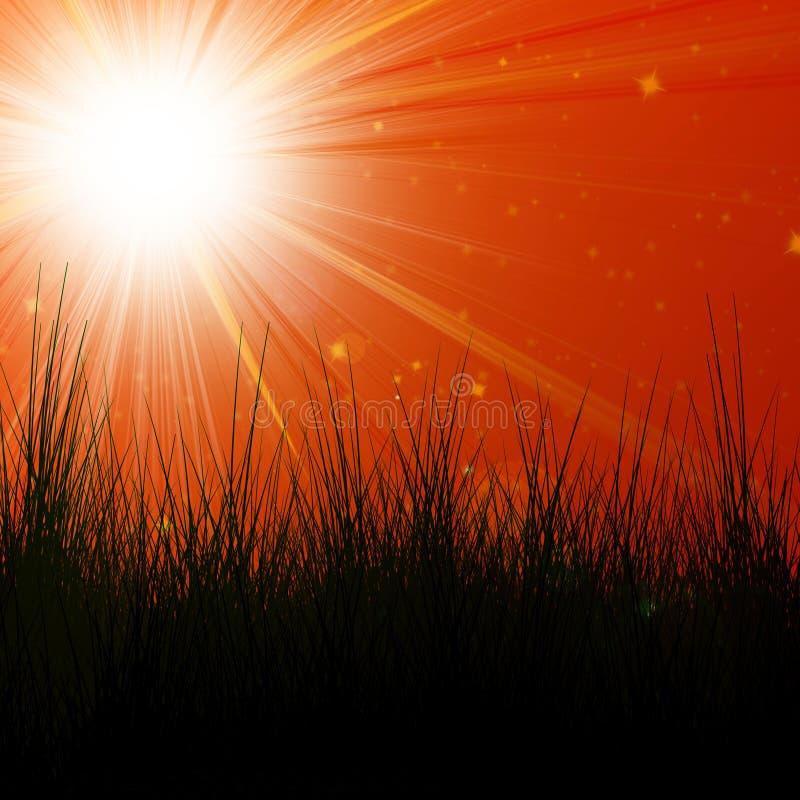 Sol quente do verão ilustração royalty free