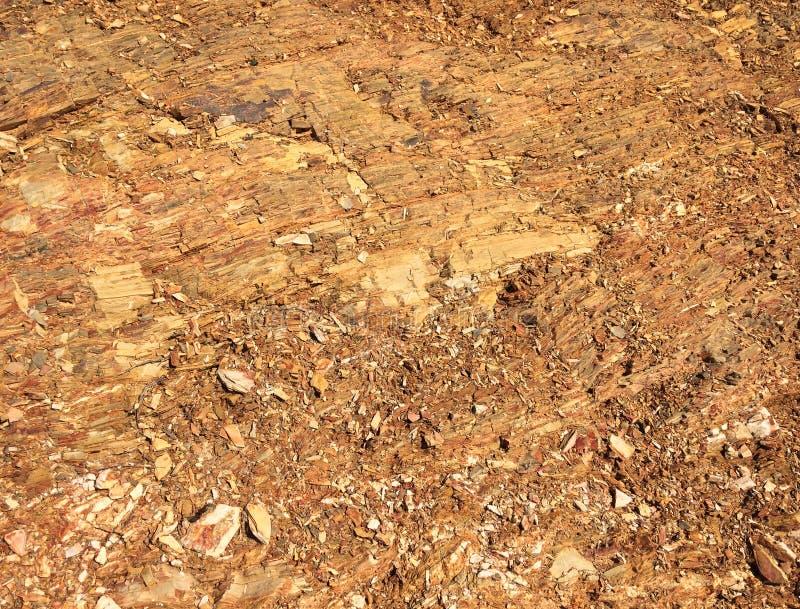 Sol rocheux, miette en pierre, formation de roche comme fond, pierres lumineuses image libre de droits