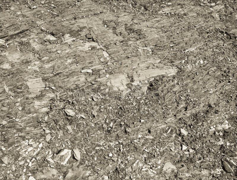 Sol rocheux, miette en pierre, formation de roche comme fond photos stock