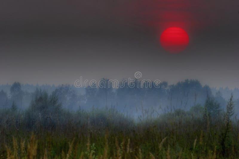 Sol rojo de Rusia foto de archivo