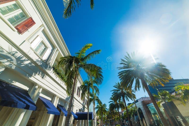Sol som skiner över Beverly Hills arkivbild