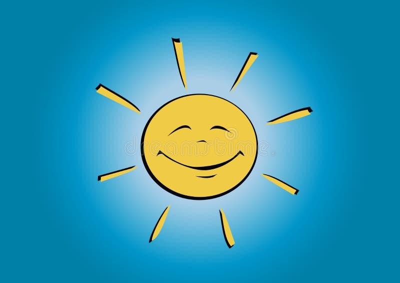 Download Sol sonriente stock de ilustración. Ilustración de cómico - 7275527