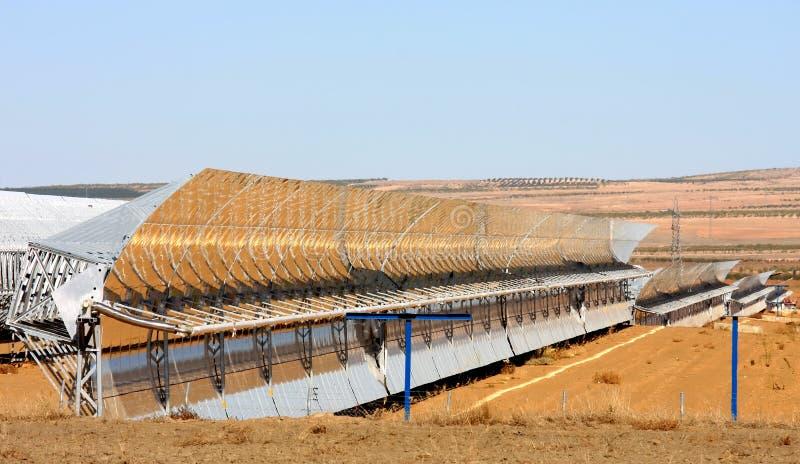 sol- spain guadix för near växtström thermal arkivbild