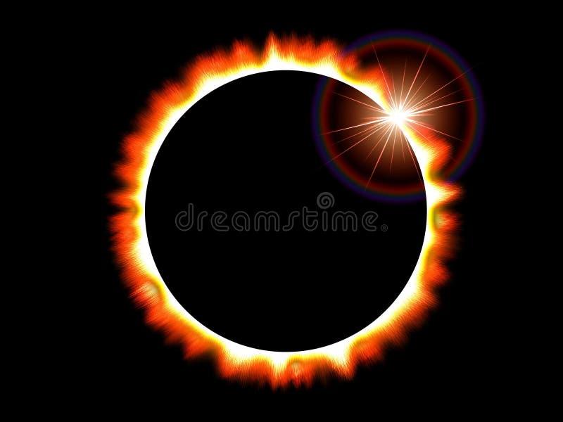 sol- sun för förmörkelse royaltyfri illustrationer