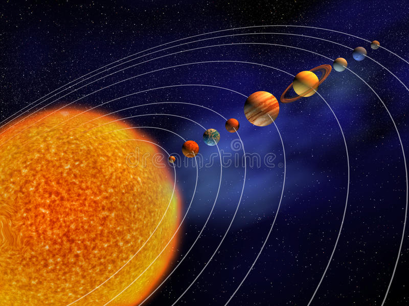 sol- system vektor illustrationer