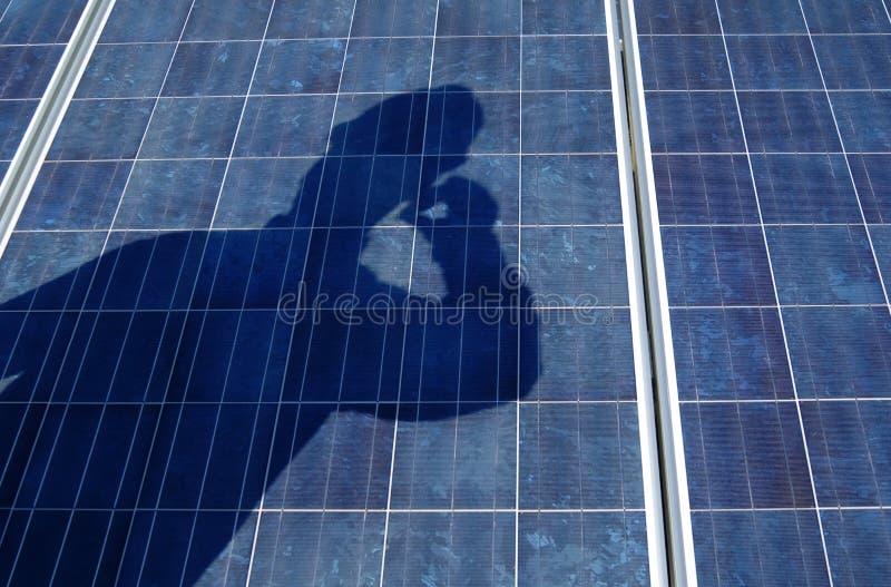 sol- tech för samlingspanel royaltyfri foto