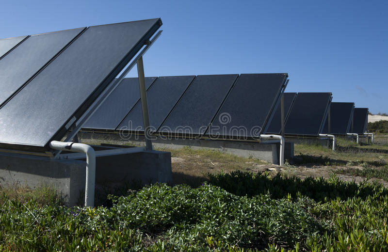 Sol- termisk energi fotografering för bildbyråer