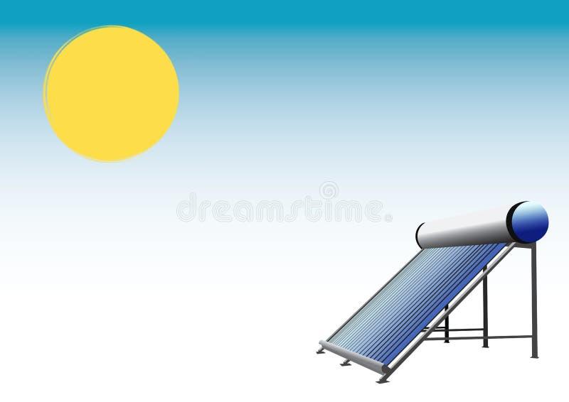 sol- thermo för panel royaltyfri illustrationer