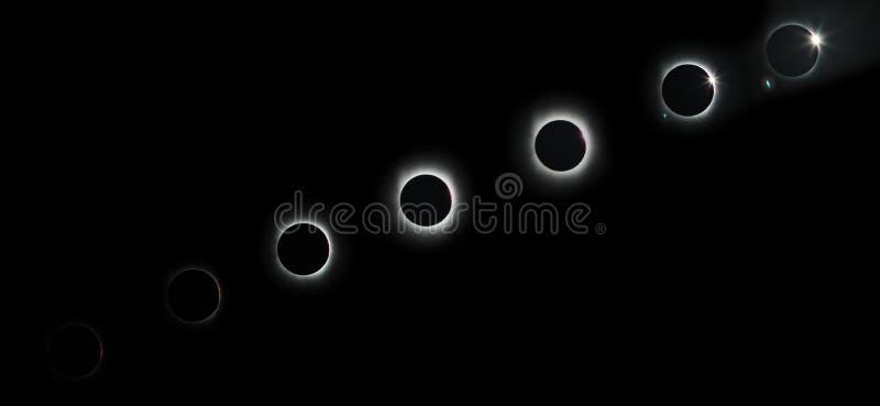 sol- total för förmörkelse royaltyfri foto