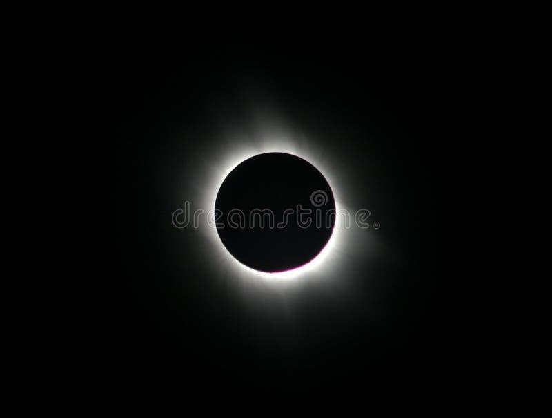 sol- total för förmörkelse royaltyfria foton