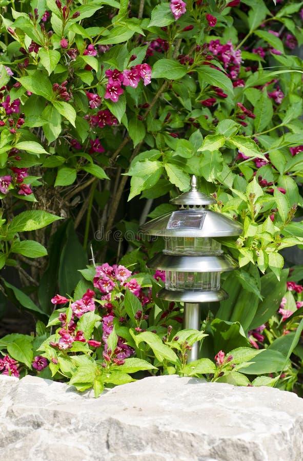 sol- trädgårds- lampa 2 royaltyfria bilder