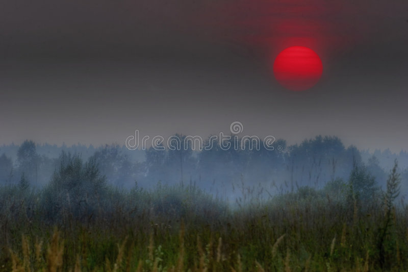 Sol vermelho de Rússia foto de stock