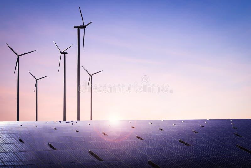 sol- wind för alternativ för bakgrundsbegrepp digital illustration för energi arkivbilder
