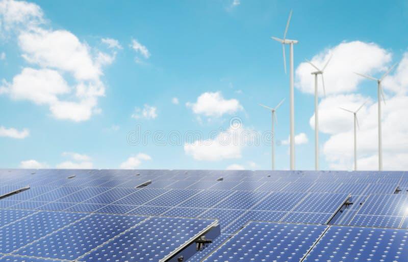 sol- wind för alternativ för bakgrundsbegrepp digital illustration för energi stock illustrationer