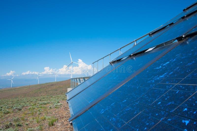 sol- wind för ström royaltyfria foton