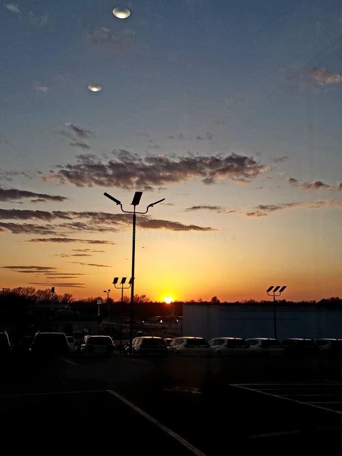 Sol y OVNI fotografía de archivo libre de regalías