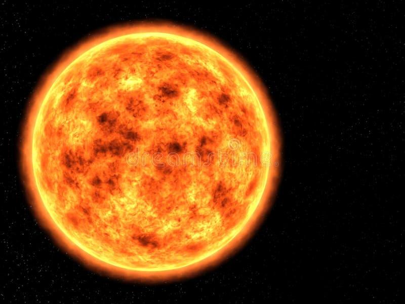 Sol yttre rymd, solsystem, stjärna arkivbilder