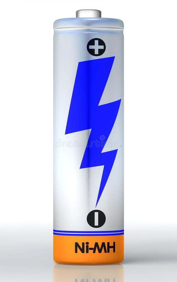 Sola batería ilustración del vector