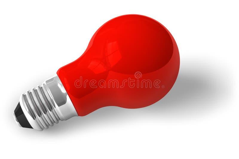 Sola lámpara roja stock de ilustración
