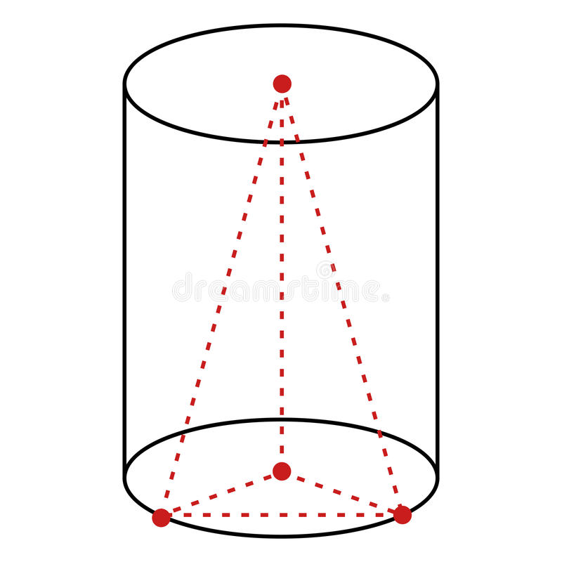 Sola línea ejemplo - cilindro del vector ilustración del vector