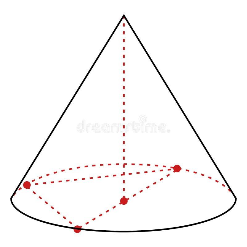 Sola línea ejemplo - cono del vector ilustración del vector