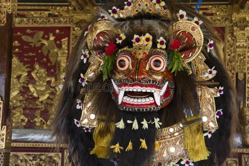 Sola máscara tradicional del barong de Indonesia imagen de archivo libre de regalías