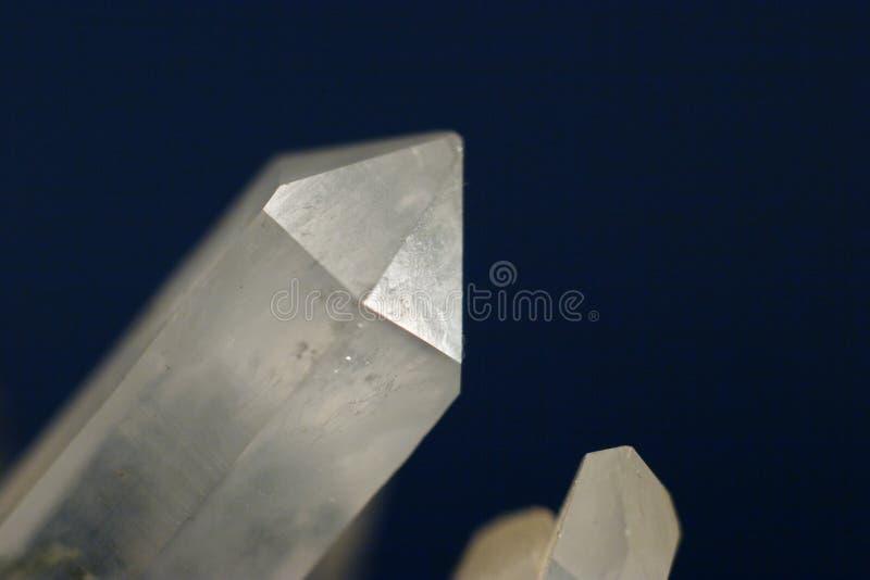 Sola macro del cristal de cuarzo fotografía de archivo libre de regalías