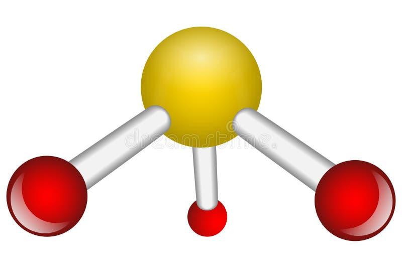 Sola molécula del NH3 del amoníaco stock de ilustración