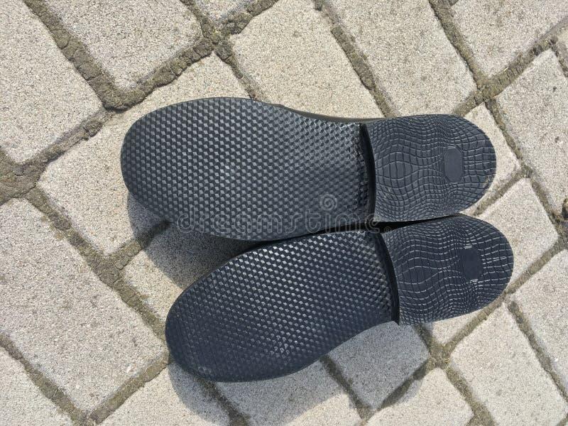 Sola nova da sapata do ` s do homem foto de stock