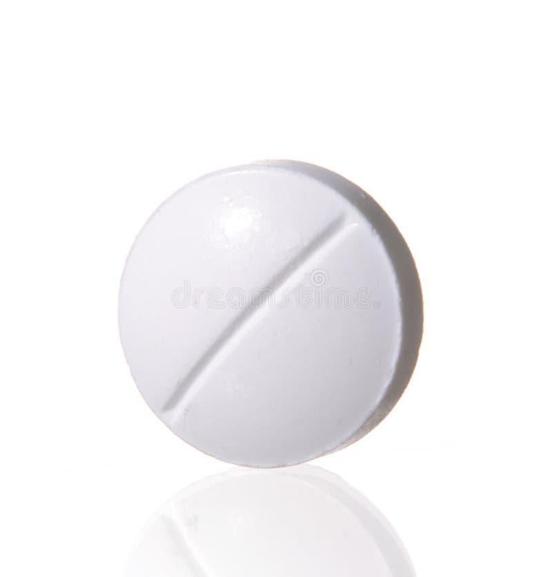 Sola píldora blanca fotografía de archivo