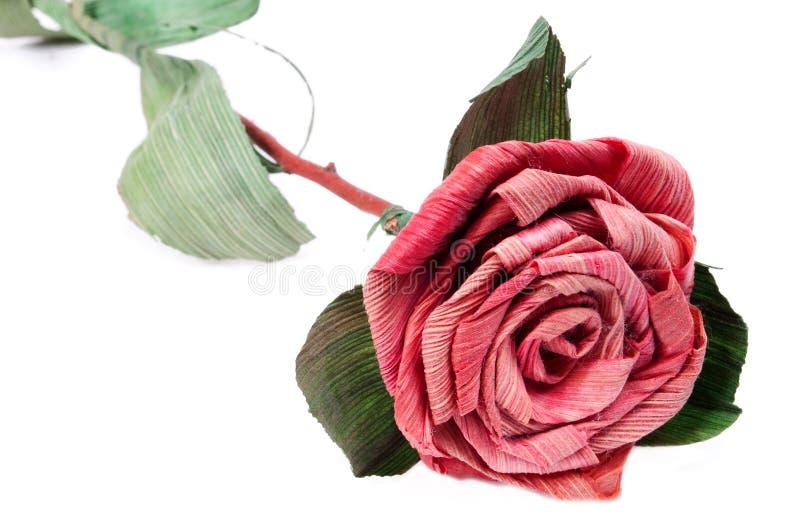 Sola rosa de papel roja foto de archivo