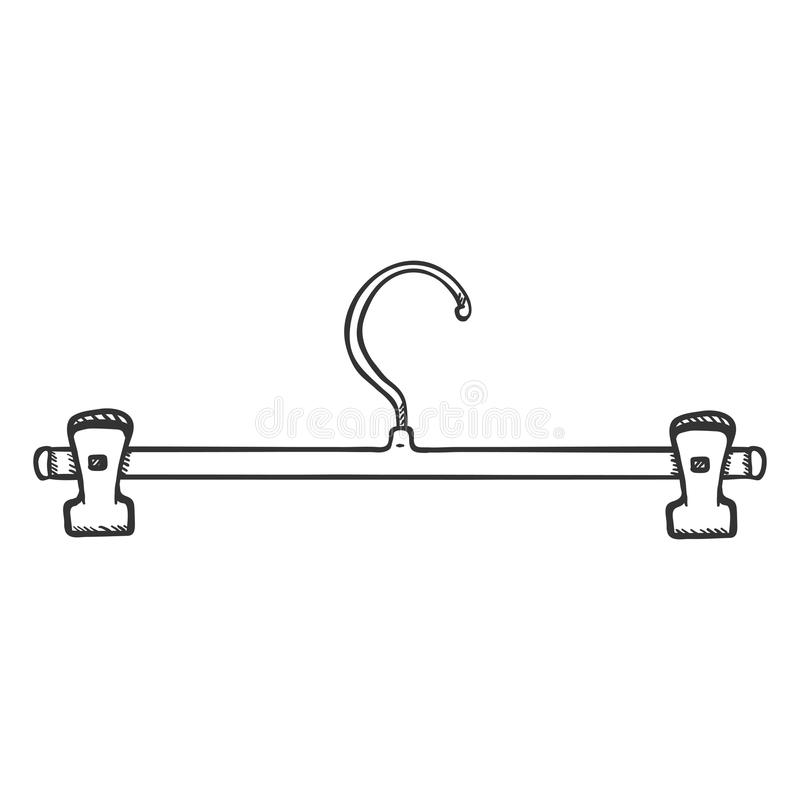 Sola suspensión del hombro del guardarropa del bosquejo del vector ilustración del vector