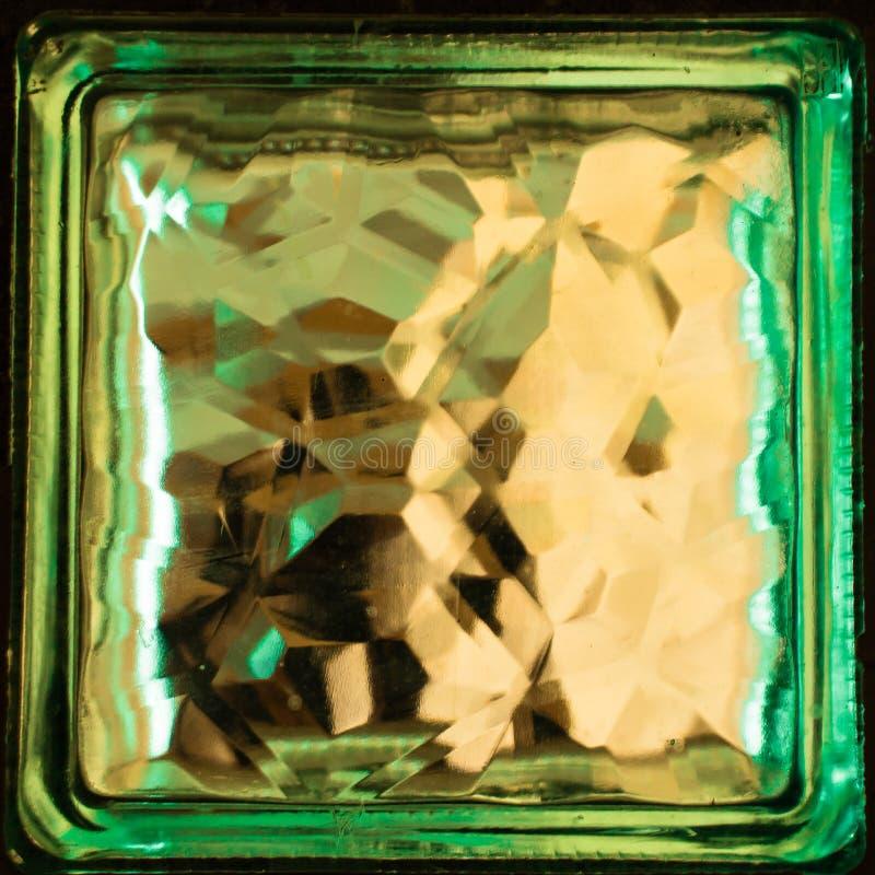 Sola textura cuadrada o fondo del bloque de cristal fotografía de archivo