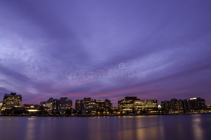 Solamente en Boston en la puesta del sol imágenes de archivo libres de regalías