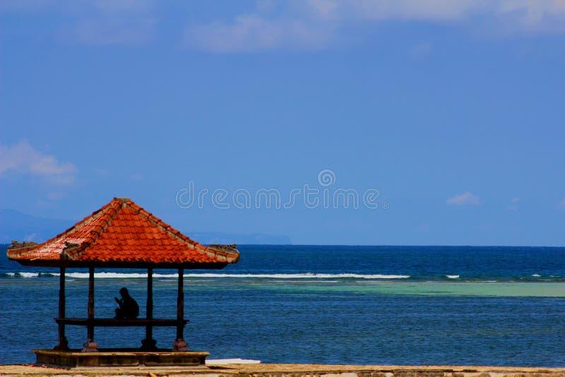 Solamente en el benoa Bali de la playa fotografía de archivo libre de regalías