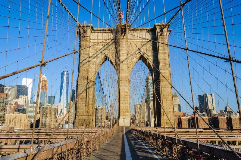 Solamente en el puente de Brooklyn, Nueva York, los E.E.U.U. imagen de archivo