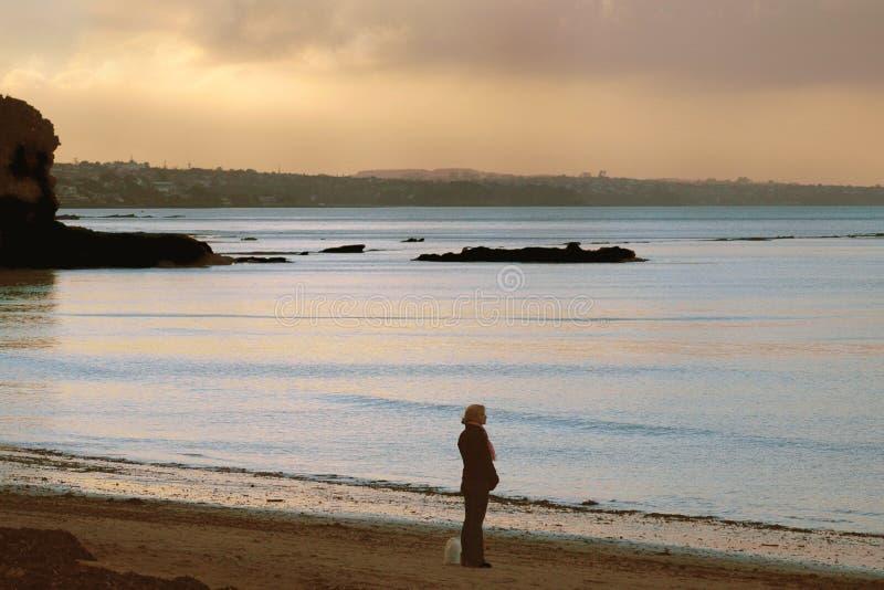 Solamente en la playa imagen de archivo