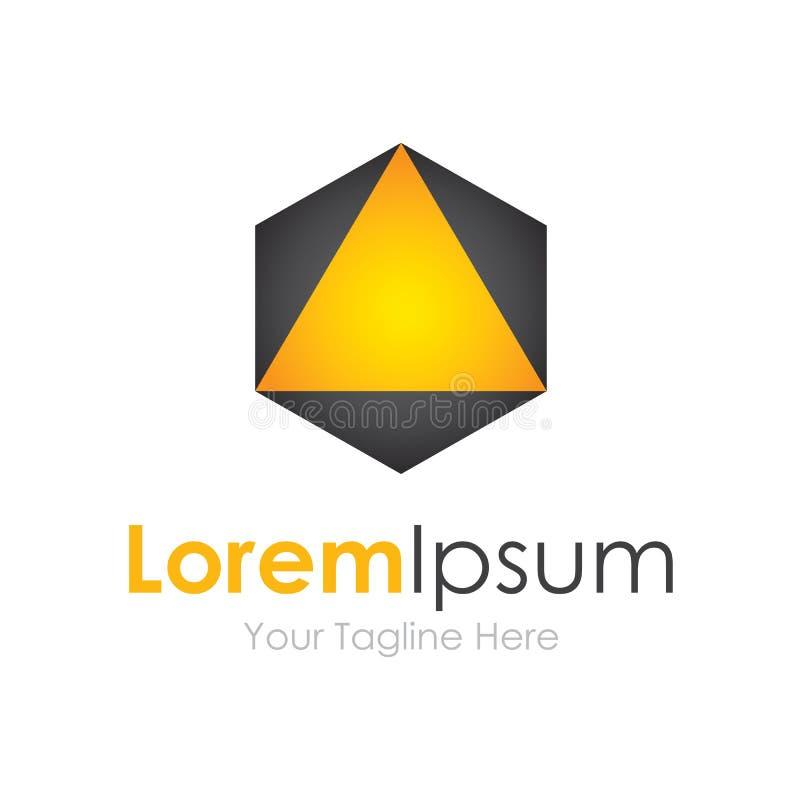 Solamente encima de logotipo extraño del icono de los elementos del concepto del triángulo stock de ilustración