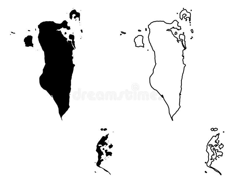 Solamente las esquinas agudas simples trazan - el reino del drenaje del vector de Bahrein stock de ilustración
