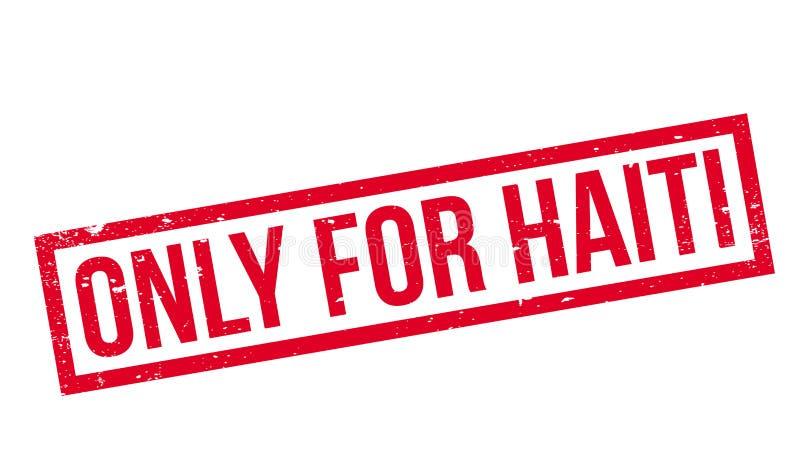 Solamente para el sello de goma de Haití stock de ilustración