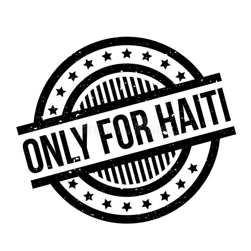Solamente para el sello de goma de Haití ilustración del vector